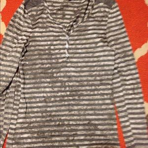 S/M Daytrip stripped long sleeved top